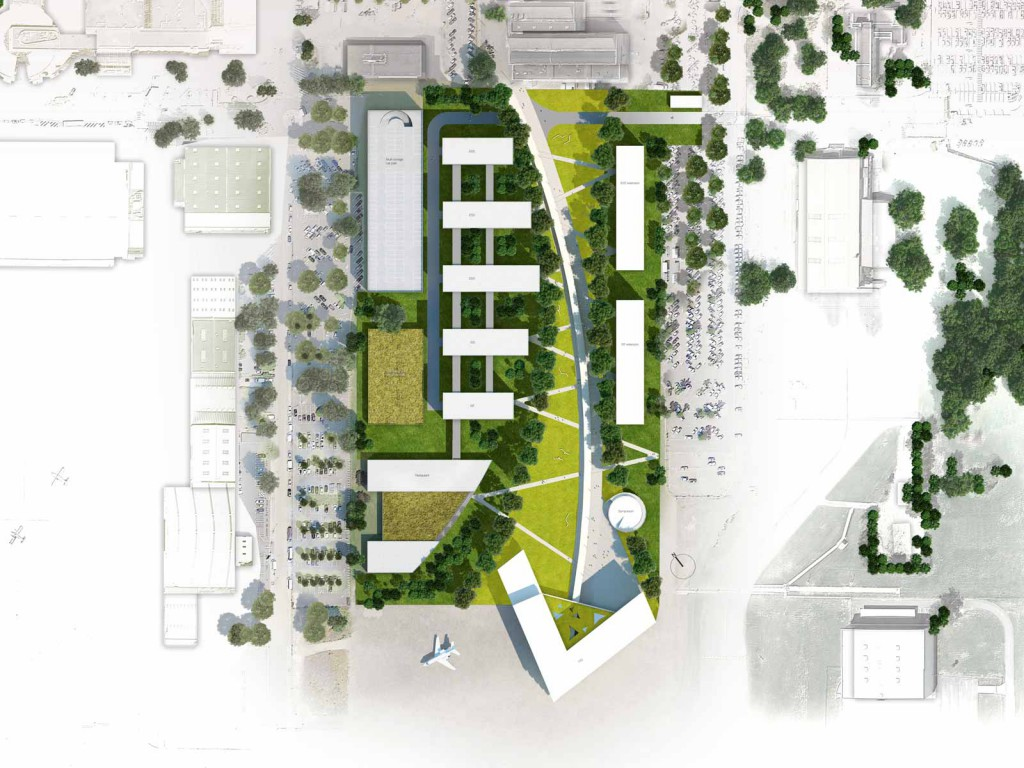Airbus headquarter s quences les yeux carres for Plan masse architecture