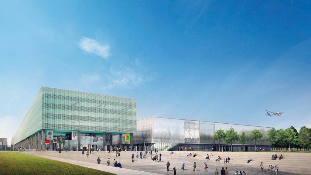 les-yeux-carres-infographiste-3d-europolia-pex-toulouse-parc-expositions-projet-parking-hall-Exposition