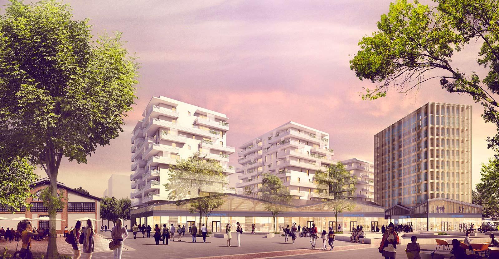 PROGRAMME MIXTE EN BOIS - TOULOUSE - bellecour architectesharter-les yeux carres-la cartoucherie-ecoquartier-toulouse
